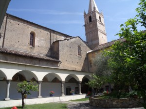 Courtyard and cloisters in the monastery, Taggia