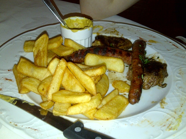 Kebabs and chips