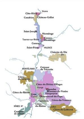 rhone clairette ac map