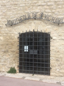 The Vinotetecque of Ste Victoire doorway in the castle at Trets