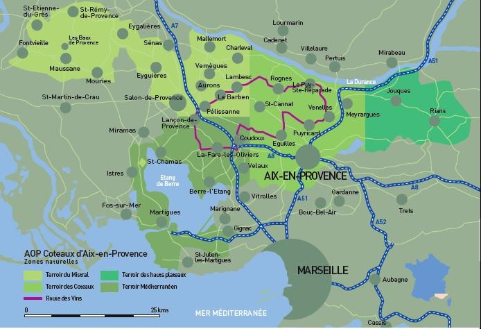 coteaux daix en provence map Elizabeth Gabay MW