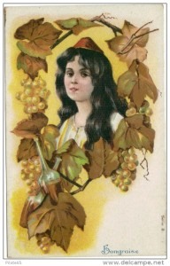 hungarian woman and wine