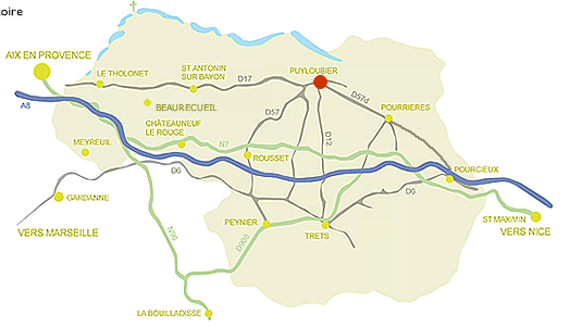 Map of Ste Victoire