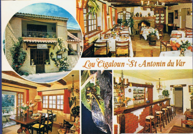 Old postcard of Lou Cigaloun