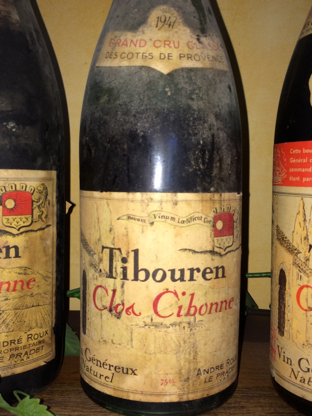 Old bottle of Clos Cibonne Tibouren