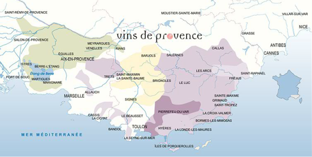 Cotes de Provence Pierrefeu in darker purple