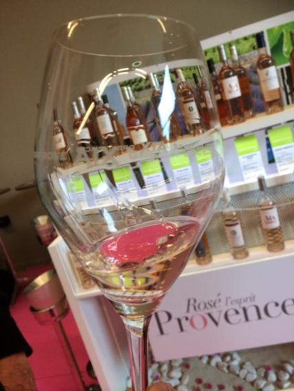 Riedel glassware designed for AIX rosé