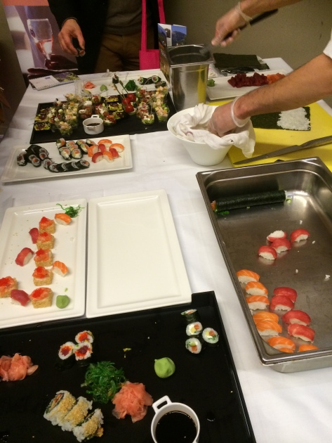 Chef creating fresh sushi to match with the rosé wines