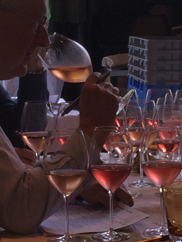 Tasting Rosés at The Drinks Business Rosé Masters