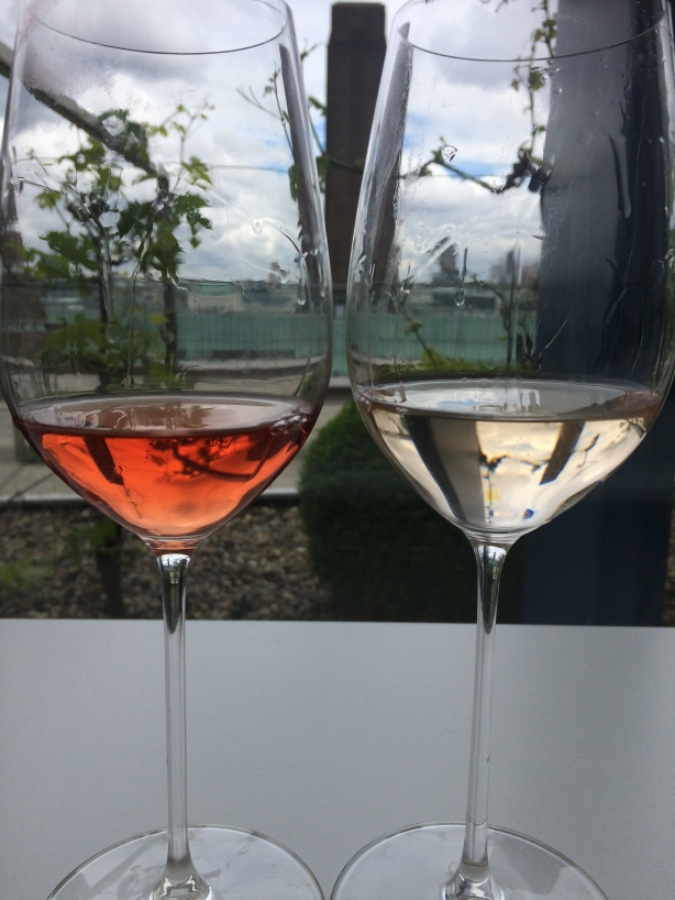 Rosé colour extremes from one of the darkest to lightest at Decanter