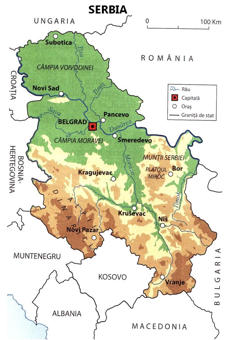 Relief Map of Serbia Elizabeth Gabay MW