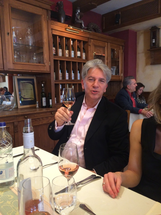 Csaba Maltinsky at lunch at the Bock Ermitage Hotel