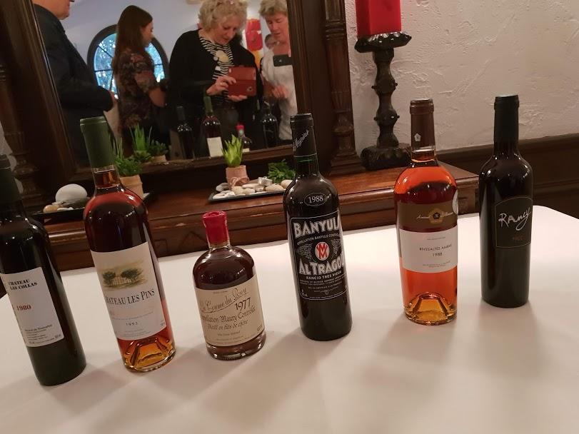 sweet wine lineup